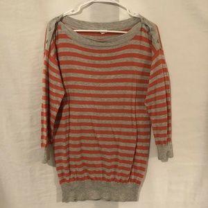J Crew Large Sweater Blouse Striped